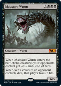 Massacre Wurm x1 Magic the Gathering 1x Magic 2021 mtg card