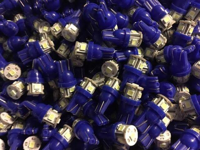 (6)COOL BLUE 8V-LED WEDGE LAMPs/KR-5400/KR-6400/KR-7400/FREE DIAL LAMP! KENWOOD