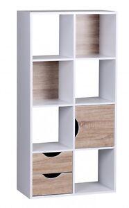 Wohnling libreria con cassetti e porta, rovere Sonoma bianco ...