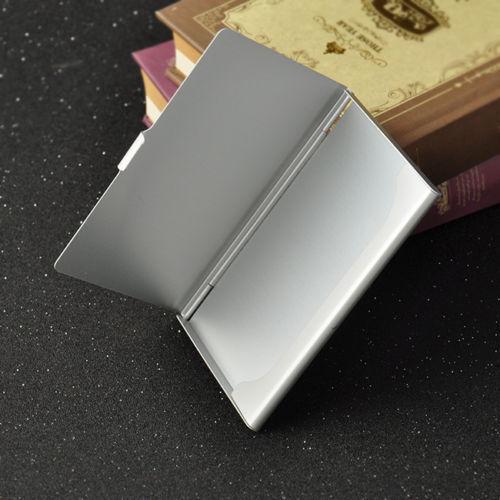 Pocket Edelstahl /& Metall Visitenkartenetui Case ID Geldbörse Silber CJ