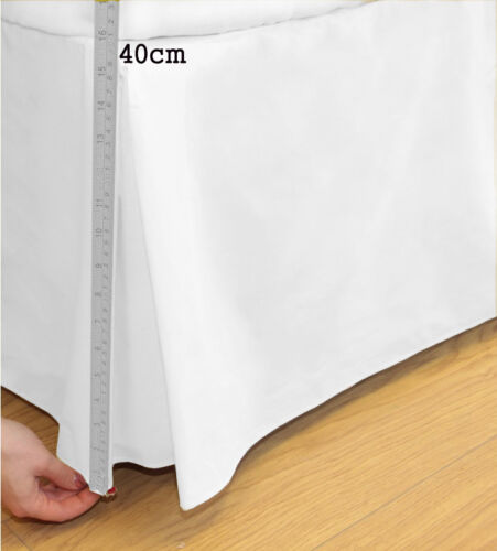 Luxury Easy Care Poly Cotton Platform Base Valance Box Pleated Sheet All Sizes