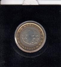 Monaco 1 euro 2002 Moneta Da Corso Banca freschi in münzrähmchen