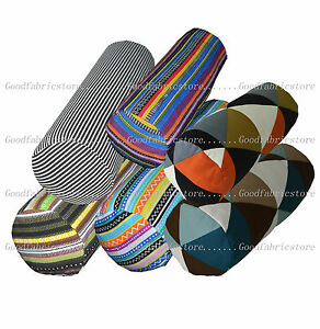 ak-6-Colors-Stripe-Pattern-Cotton-Canvas-Bolster-Yoga-Cushion-Cover-Custom-Size