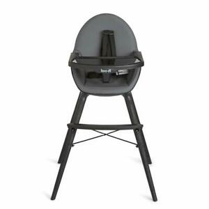 Koo-di-Duo-Wooden-Convertible-Highchair-Charcoal-Warehouse-Clearance