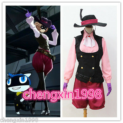 Japan anime New Persona 5 Haru Okumura cosplay costume uniform with hat
