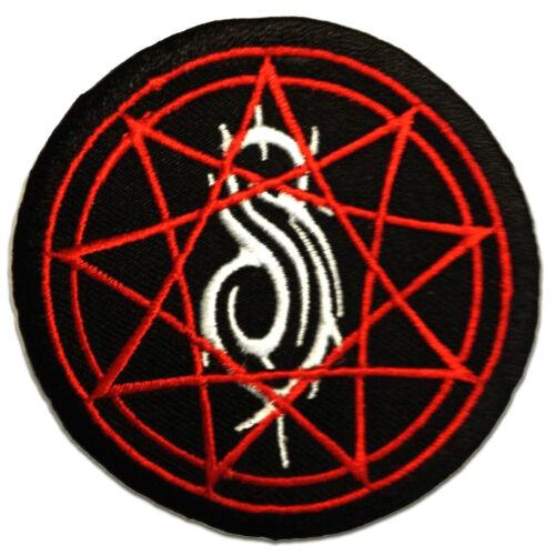 Slipknot stern logo Aufnäher // Bügelbild schwarz Ø7,7 cm