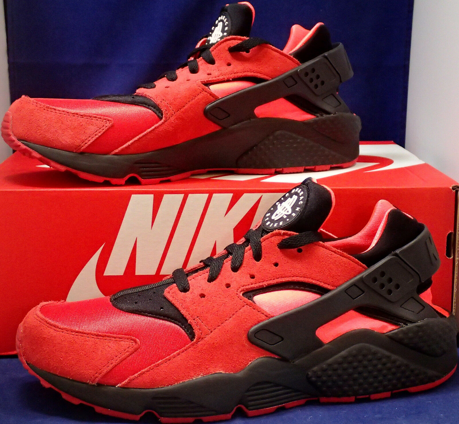 Nike Air Huarache Run iD Black Red Solar Red SZ 11 ( 777330-997 )