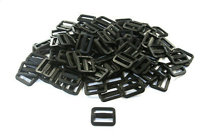 Plastic Delrin 3 Bar Slides Tri Glide Buckles for Webbing 20mm 25mm 40mm 50mm