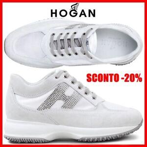 brand new 260ce 443f9 Dettagli su Hogan Interactive Scarpe da Donna Sportive Sneaker Bianche  Nuove Comode 37 38 39