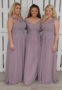 Bridesmaid Convertible Dress Mauve Dress