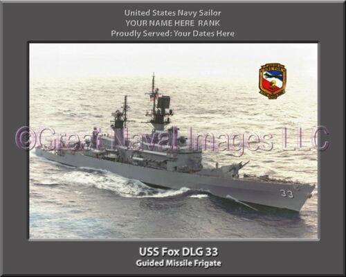 USS Fox DLG 33 Personalized Canvas Ship Photo Print Navy Veteran Gift