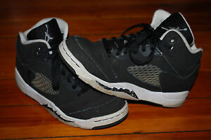 74d59926ea5b89 Boy s Nike Air Jordan V Retro 5 s Oreo Black White Sneaker (1Y ...