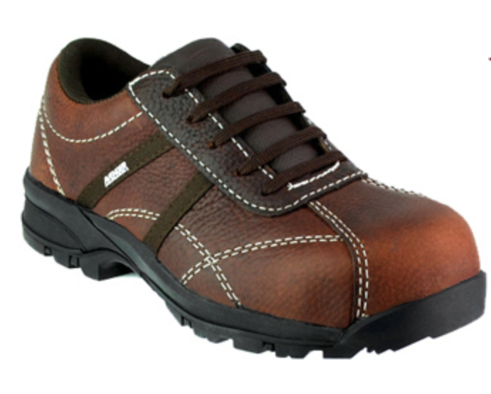 NEW Avenger femmes Work Safety chaussures Comp Toe EH marron Leather Oxford Sz 8.5 M