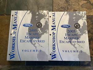 2005 Ford Escape Mercury Mariner Gas & Hybrid Service Shop ...