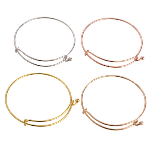HOT! Fashion Expandable Wire Bangle Charm for jewery Bracelet making