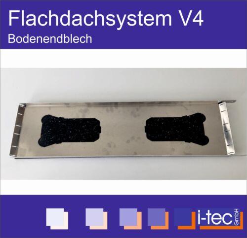 Bodenblech Alu für Reihenabschluss Flachdach Montagesystem Ost-West