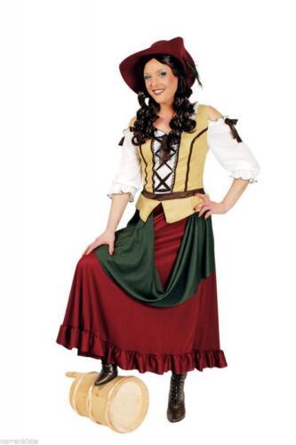Religiosa mercato contadinella economista Castello Robin Hood Costume Vestito Castello Dama Rokoko libero Donna