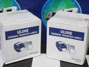Details about NEW IN BOX ULINE S-7417 2 25X2 THERMAL TRANSFER LABELS 60830