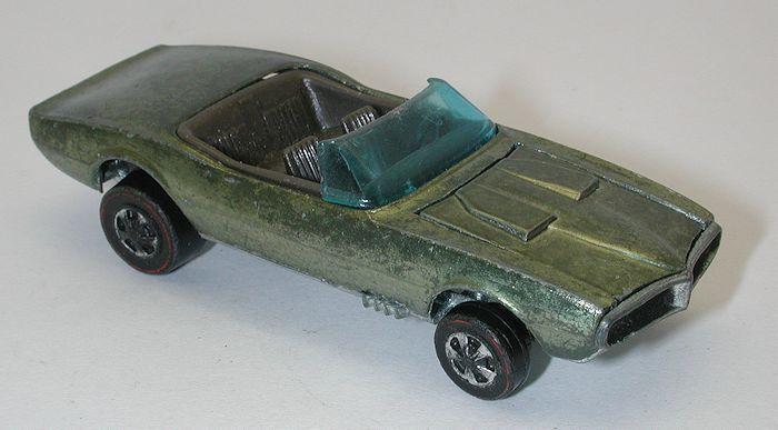 Redline Hotwheels Olive 1968 Custom Firebird