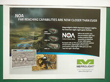 4/2010 PUB MEPROLIGHT NOA WEAPON SIGHT VISEUR US ARMY SNIPER SPECIAL FORCES AD