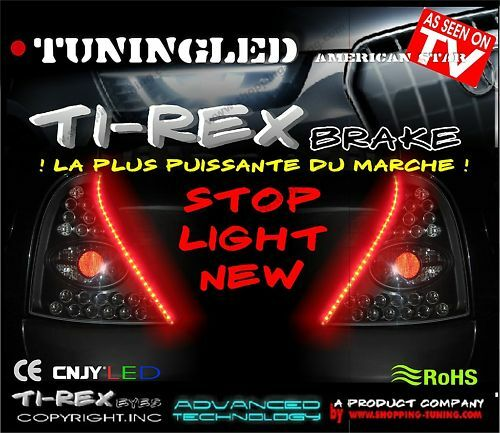 2 BANDE LED LATERALE 3EME FEUX ARRIERE STOP ROUGE POUR NISSAN NAVARA NOTE