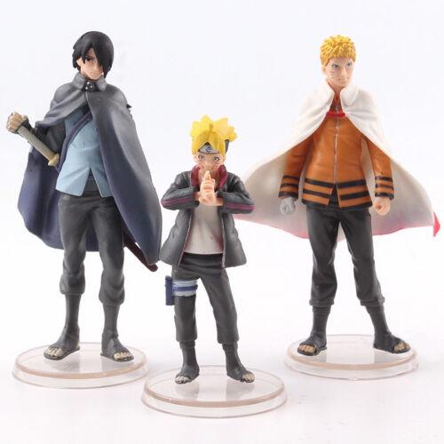 3 Pcs//Set Boruto Naruto Next Generation PVC Action Figure Collectible Model Toy