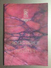 1989 Rolls-Royce & Bentley Showroom Advertising Sales Brochure RARE Awesome L@@K