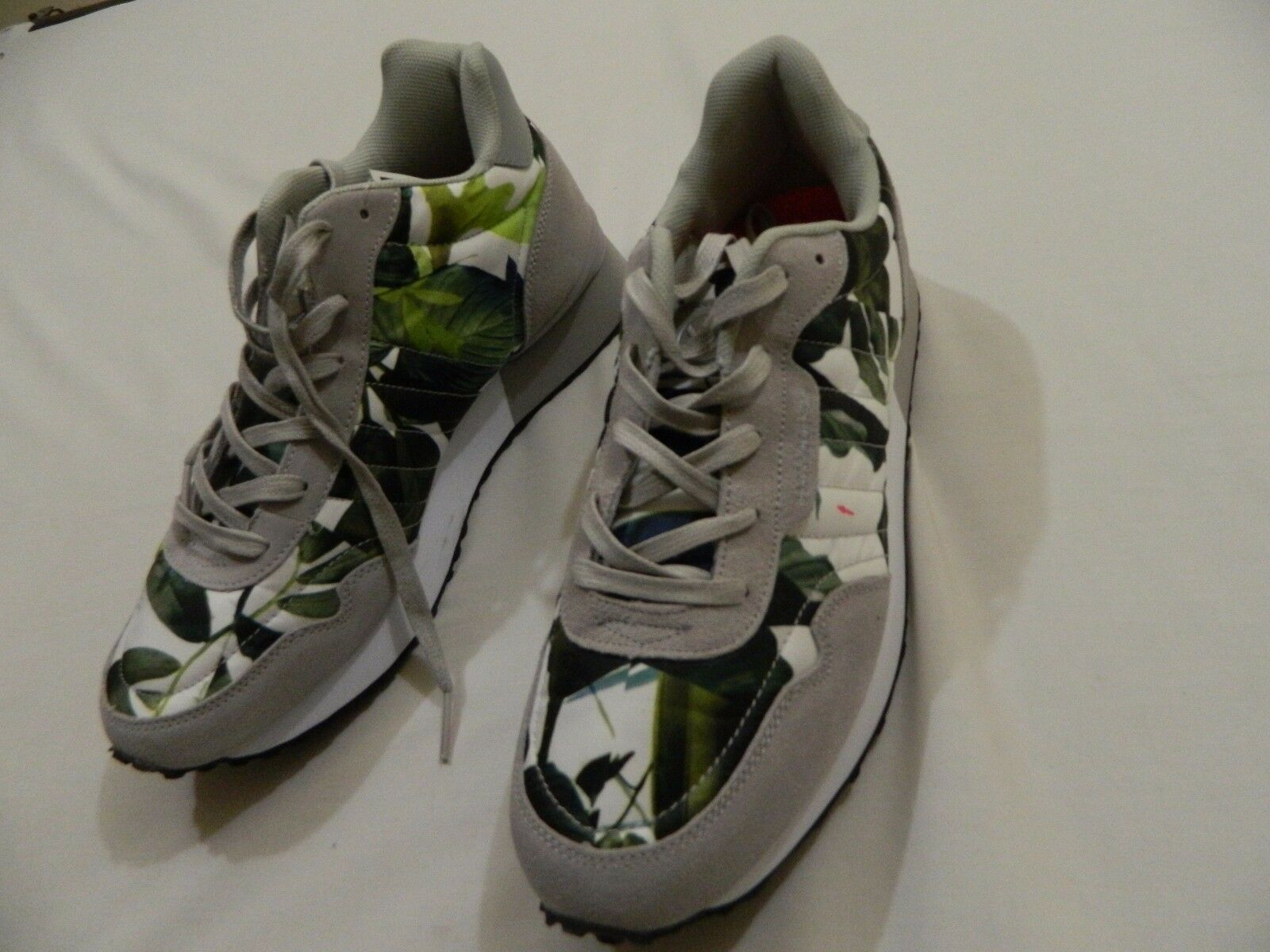 M51 Hawke Fashion & Co Warren Mid Fashion Hawke Floral Flowers Leaf Sneaker MEN'S Größe 10.5 fb0037