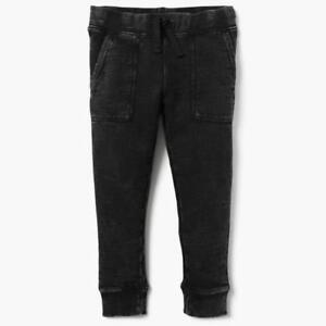 Boys Pull-on Gymboree Straight Jogger Drawstring Grey Denim Jeans Sz 10