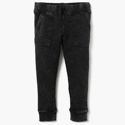 NWT Gymboree Boys Pull on Pants Sweatpants Jogger Garment Dye Black