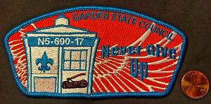 GARDEN STATE COUNCIL LENAPE 8 FLAP PATCH WOOD BADGE CSP 100 MADE DR DOCTOR WHO