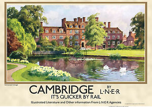 railway Cambridge poster vintage
