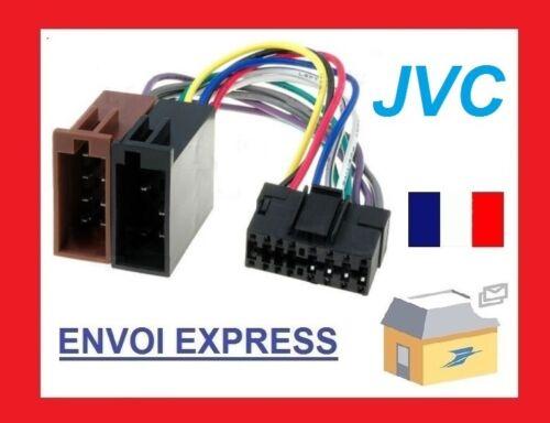 Cable Faisceau Connecteur ISO JVC autoradio 16 pins vendeur pro