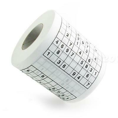 Hot Funny Game  SUDOKU Toilet Paper Roll Game loo Tissue Novelty Gift JNEG