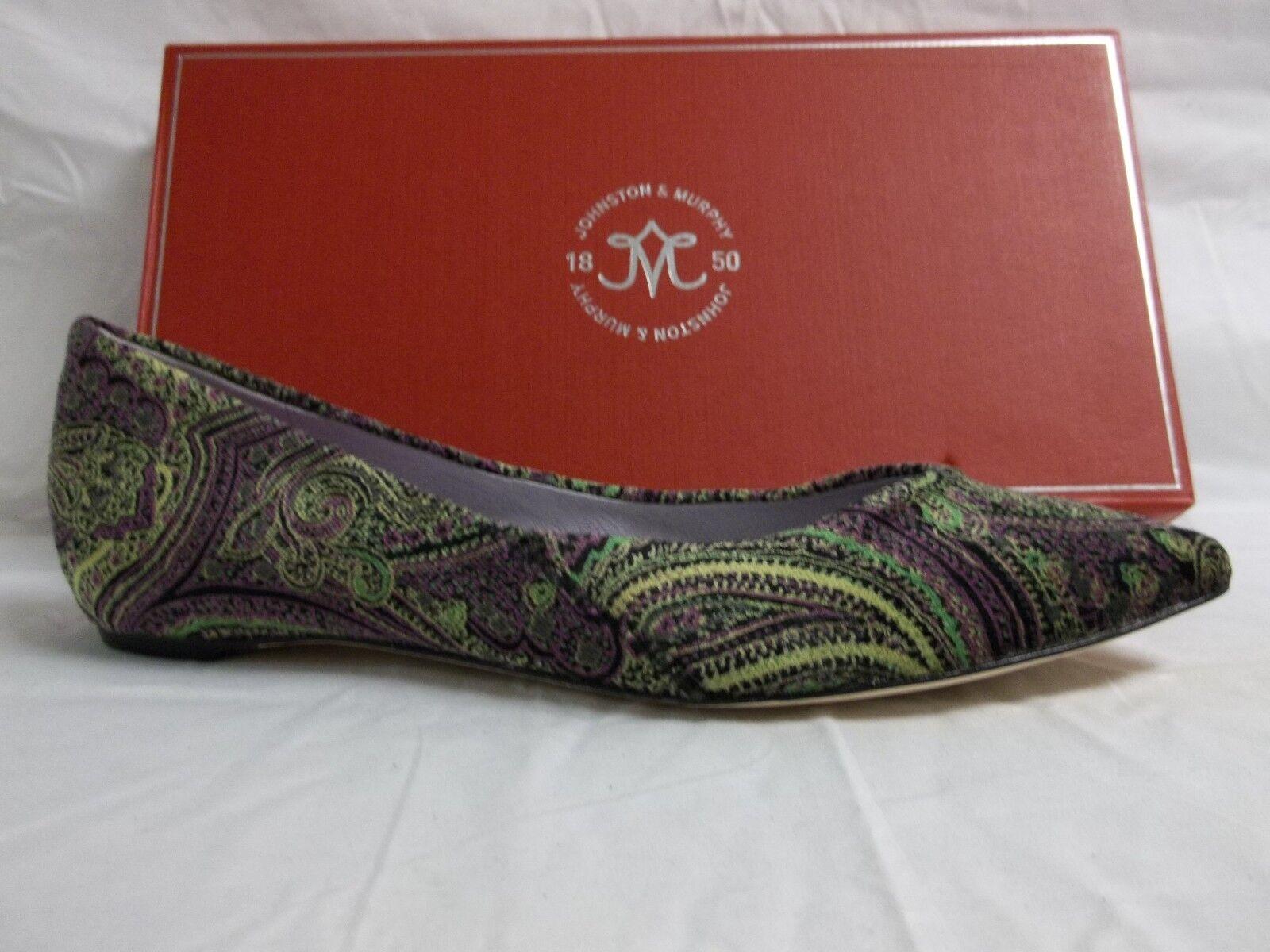 Johnston & Murphy Größe 8.5 M Tami Paisley Velvet Ballet Flats NEU Damenschuhe Schuhes