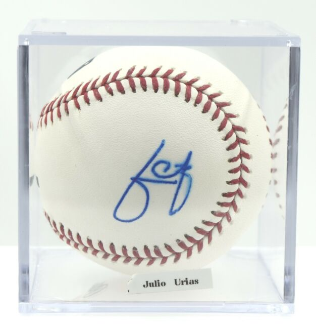 Julio Urias Los Angeles Dodgers Autographed ROMLB Baseball PSA/DNA COA