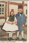 N°1 Hat Schwalm Westhessischen Hesse Funny costumes Germany IMAGE CARD 60s