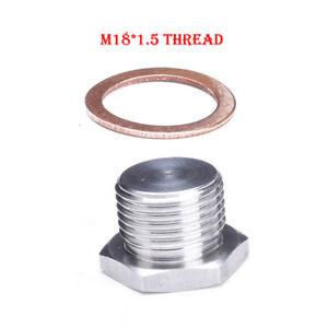 M18-1-5-Thread-304Stainless-Steel-O2-Oxygen-Sensor-Plug-Bung-Bolt-Stub-Universal