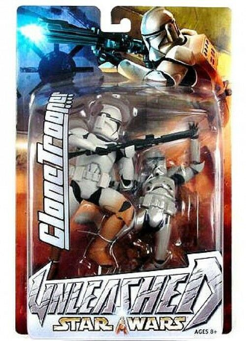 Star Wars Unleashed Series 7 Weiß Clone Trooper Action Figure