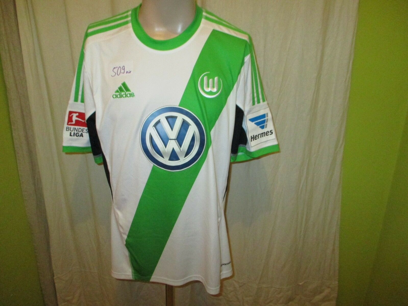VfL Wolfsburg Original Original Original Adidas Heim Trikot 2013 14  VW  + Nr.31 Knoche Gr.L Neu 1218ea