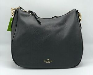 Kate-Spade-New-York-Mulberry-Street-Vivian-Hobo-Handbag-Black-Brand-New-W-Tags