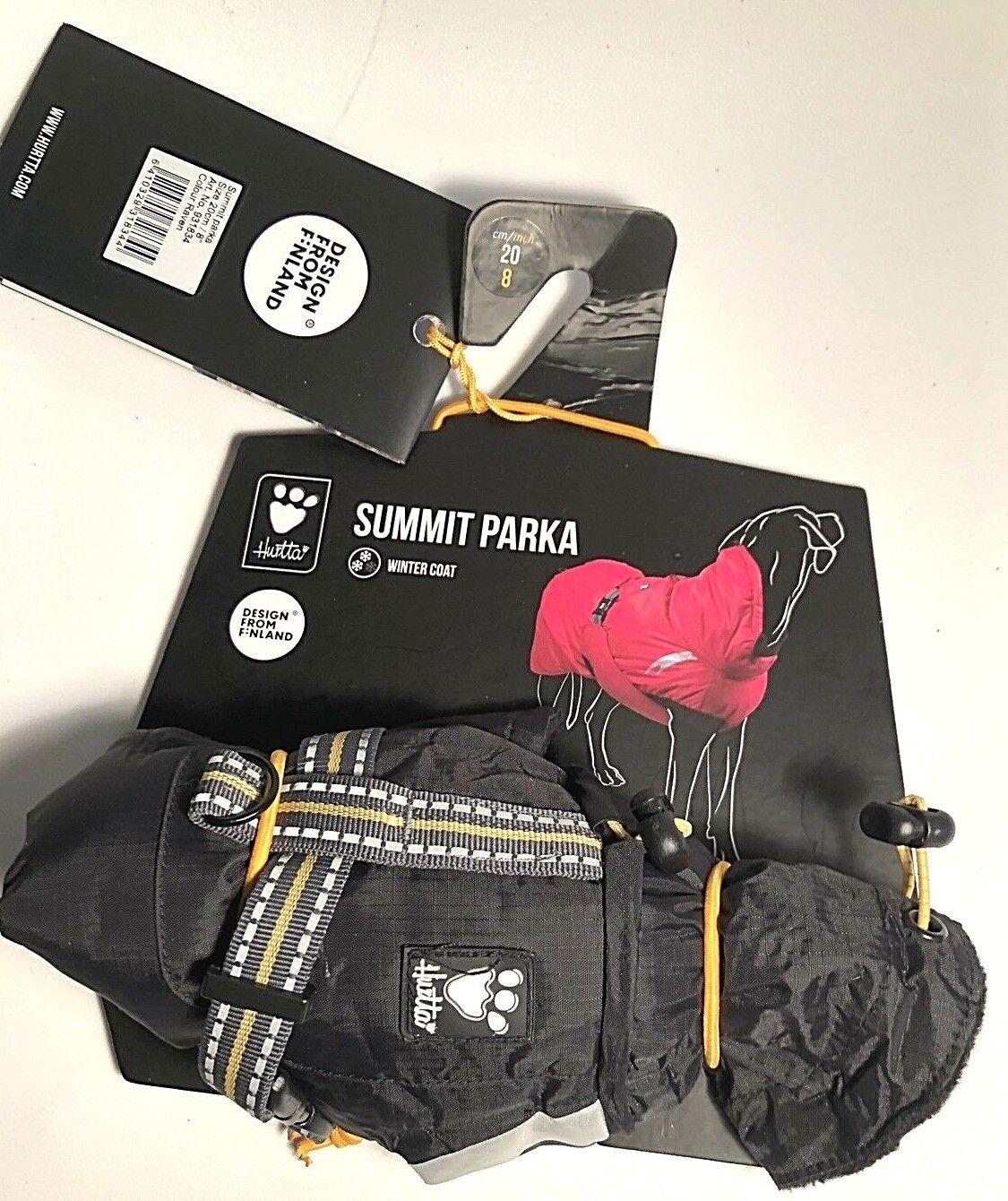 Hurtta Summit Parka Dog Winter Coat, 20cm 8 ,Colour  Raven, Never Used