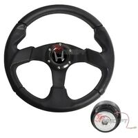 For 94-97 Honda Accord Jdm 320mm 6-bolt Black Pvc Steering Wheel Hub Adapter