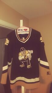 on sale f4dea 597a5 Details about Vintage Purdue Boilermakers Throwback Hockey Starter Jersey  Large! Rare