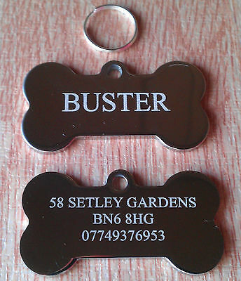 Personalised Stainless Steel Pet ID Tag, Dog Tag, Dog Disc Engraved Custom Gift