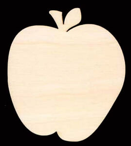 Apple-with-Leaf-4-034-Natural-Craft-Wood-Cutout-1215-4