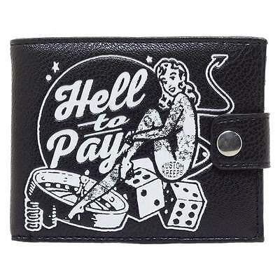 Kustom Kreeps Hell To Pay Billfold Mens Wallet Retro Rockabilly Tattoo Punk