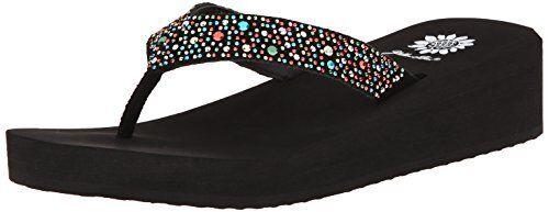 Cuadro Cuadro Cuadro Amarillo Zapatos para mujer África Cuña Flip Flop-seleccionar talla Color. 2f1565