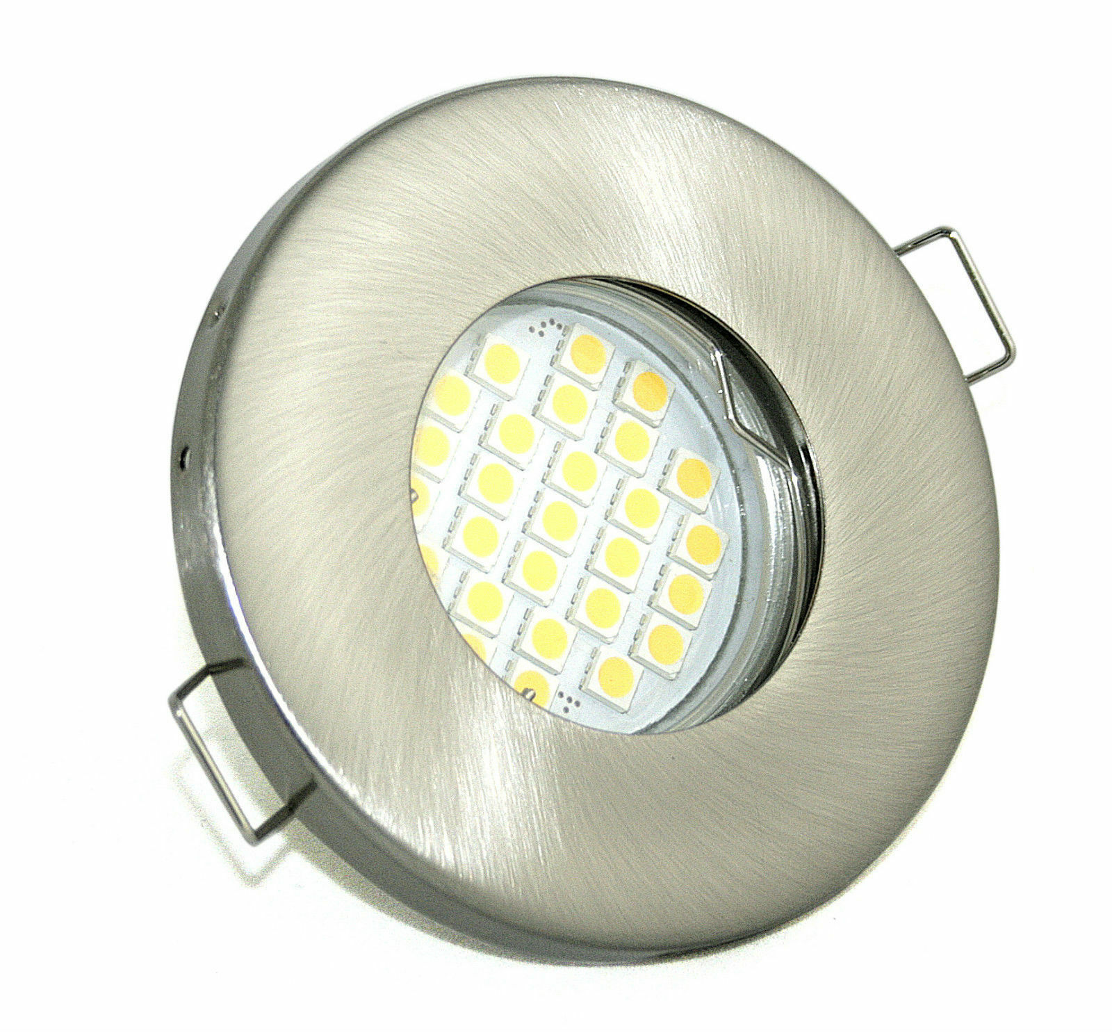 6er Set Bad Einbaustrahler IP65 + LED 4,5W 12V Einbauspot Dusche Badezimmer