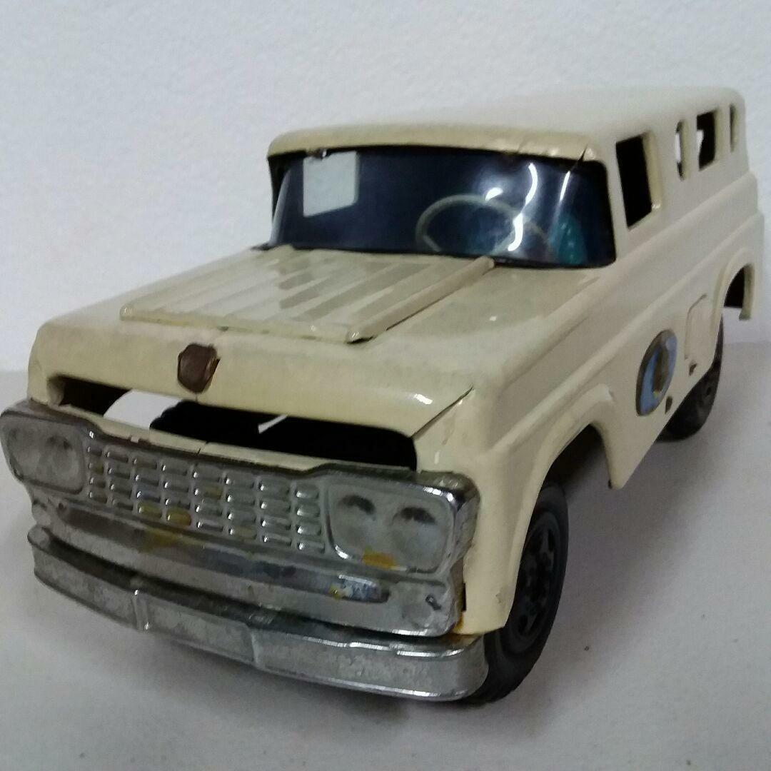 TIN DIECAST MARUSAN BULLDOG JEEP VINTAGE COLLECTIBLE 33CM FROM JAPAN RARE F S